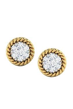 Caratlane Eartha Cer 18k Gold 0 1 Ct Diamond Earrings