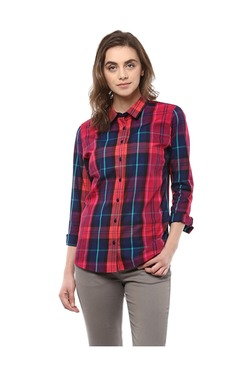 Solly By Allen Solly Pink & Blue Checks Shirt