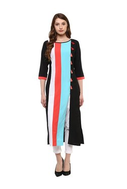 Ziyaa Multicolor Striped Crepe Kurta