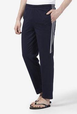 Zudio Navy Regular Fit Pure Cotton Trackpants