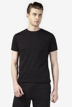 c1976d286 Zudio Black Regular Fit Pure Cotton T-Shirt