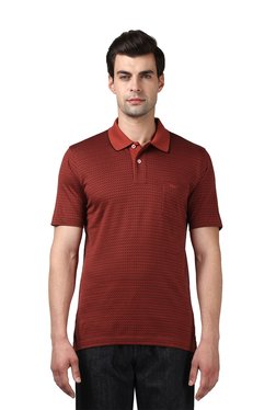 Colorplus Brown Cotton Regular Fit T-Shirt