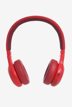 JBL E45BT On the Ear Bluetooth Headphones (Red)