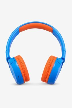 JBL JR300BT Kids On the Ear Bluetooth Headphones (Blue and Orange)