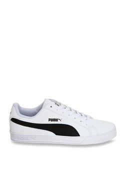 Puma Smash Vulc White & Black Sneakers