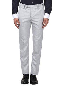 Park Avenue Light Grey Slim Fit Trousers