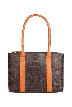 Holii Brussels 01 Dark Brown Textured Leather Shoulder Bag