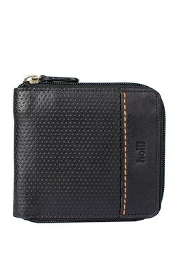 Holii Code W4 Black Textured Leather Wallet