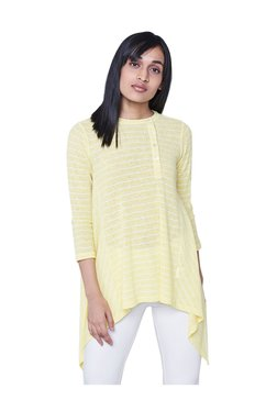 AND Yellow & White Striped Top