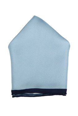 Raymond Light Blue Solid Silk Pocket Square - 32