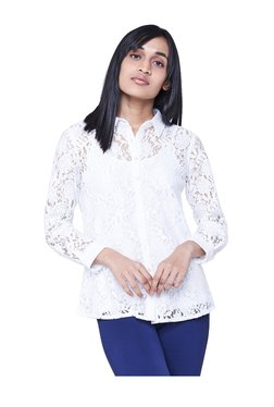 AND White Lace Shirt
