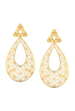 a376979057c CaratLane Millie Cutout 18k Gold Earrings