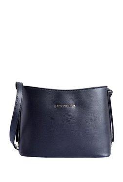 Lino Perros Black Solid Sling Bag
