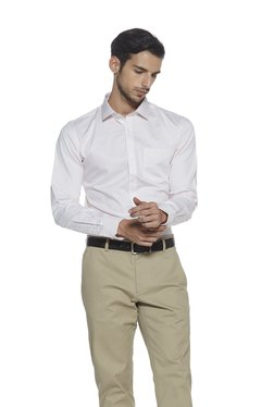 Weststreet By Westside White Micro-Dot Print Slim Fit Shirt