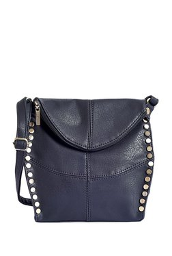 Lino Perros Black Riveted Sling Bag