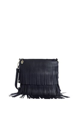 Lino Perros Black Fringes Sling Bag