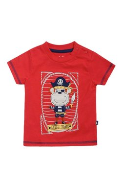 3dfdabfd9ce MINIKLUB Kids Red Patchwork T-Shirt