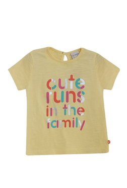 04a4bb5b6ff MINIKLUB Kids Yellow Printed Top