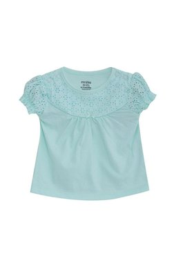 9fa13b189d1 MINIKLUB Kids Aqua Embroidered Top