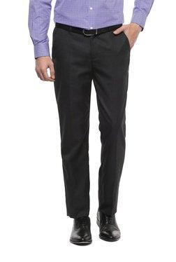 Grey Trousers Dark Grey Comfort Fit Trousers