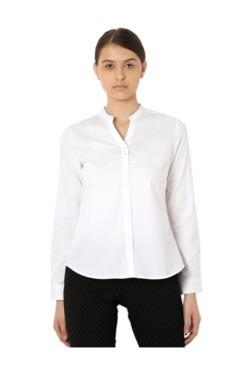 Van Heusen White Striped Shirt