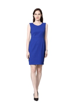 Van Heusen Royal Blue Regular Fit Above Knee Dress