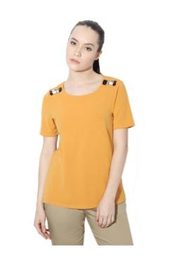 Van Heusen Yellow Embellished Top