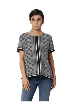 Van Heusen Black & White Printed Top