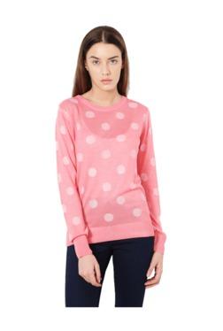Van Heusen Pink Polka Dot Top