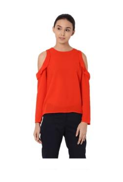 Van Heusen Orange Regular Fit Top - Mp000000002595302