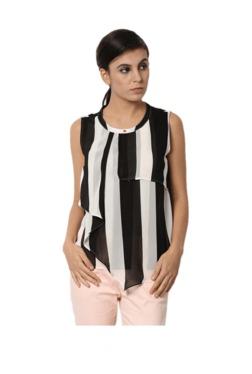 Van Heusen Black & White Striped Top