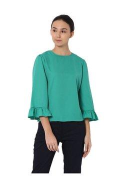 Van Heusen Green Regular Fit Top