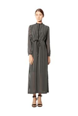 Van Heusen Black & White Striped Maxi Dress