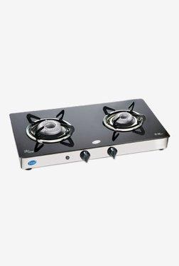 Glen GL 1021 GTAL AI 2 Burner Automatic Ignition Gas Cooktop (Black/Silver)