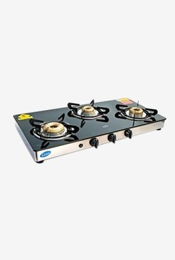 Glen GL 1033 GTXLDD AI 3 Burner Automatic Ignition Gas Cooktop (Black)