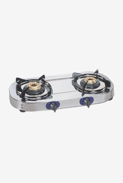 Glen GL 1026 SSBB 2 Burner Gas Cooktop (Silver)