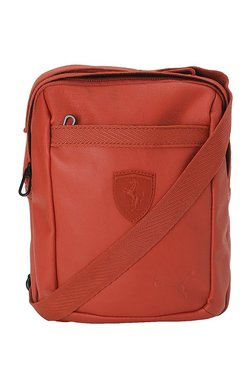 e5d5b4e31a87 Puma SF LS Indian Red Solid PU Sling Bag