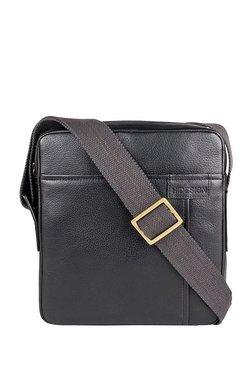 Hidesign Donard 02 Black Solid Leather Sling Bag