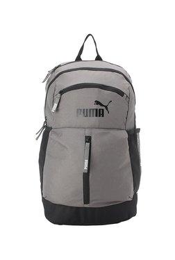 Puma Maze Dark Grey   Black Solid Polyester Laptop Backpack f2fcf82afe172