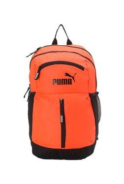 20890c253549 Puma Maze Orange   Black Solid Polyester Laptop Backpack