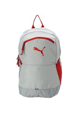 074a7a941630 Puma Power Light Grey   Red Solid Polyester Laptop Backpack