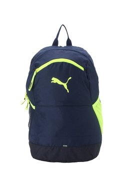 Puma Power Navy   Fluorescent Yellow Solid Laptop Backpack 0efb8431ecb97