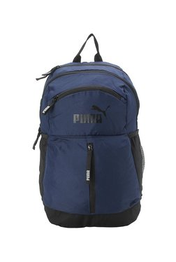 Puma Maze Navy   Black Solid Polyester Laptop Backpack 404b114159e4e