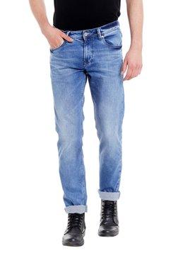 Easies Light Blue Slim Fit Mid Rise Jeans