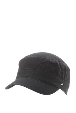 Puma Military Black Textured Cotton Military Cap f2debf87d31a