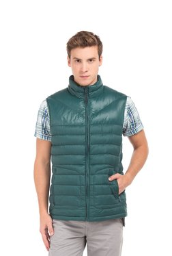 ecfddbdf6bb02 Nautica Green Sleeveless Jacket