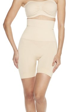 58c1f6ad4ee34 Wunderlove by Westside Beige High-Waist Shapewear Shorts