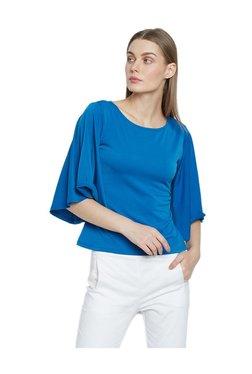 AND Royal Blue Short Sleeves Top - Mp000000002623523