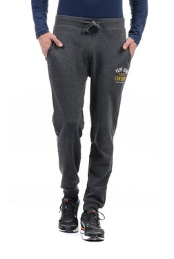 Pepe Jeans Grey Printed Mid Rise Joggers