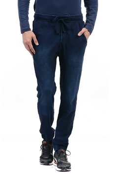 Pepe Jeans Blue Mid Rise Solid Jogger Jeans